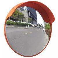 Konvexné dopravné zrkadlo, PC plast, oranžové 45 cm, do exteriéru