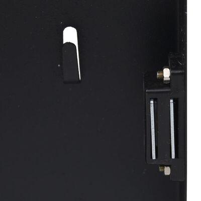 vidaXL Skrinka na kľúče s magnetickou doskou čierna 35x35x5,5 cm