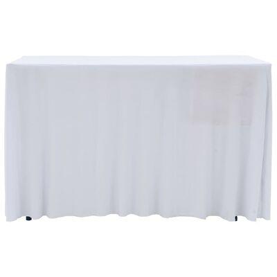 vidaXL Naťahovacie obrusy na stôl so závesom 2 ks biele 120x60,5x74 cm