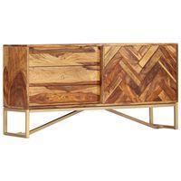 vidaXL Komoda 118x30x60 cm masívne sheesamové drevo
