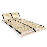 vidaXL Lamelový posteľný rošt s 28 lamelami a 7 zónami 80x200 cm