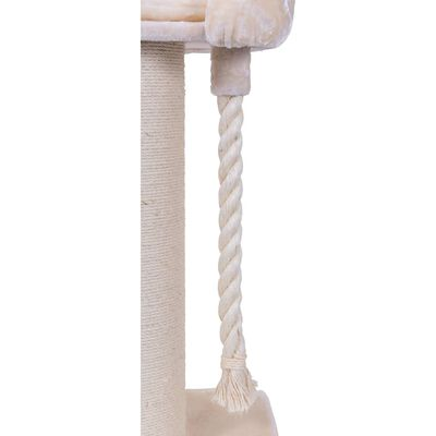 Quapas! Škrabadlo pre mačky Casual, krémové XXL 60x60x100 cm