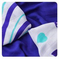 XKKO Bambusové obrúsky 30x30 Hearts&Waves Ocean Blue MIX (9ks)