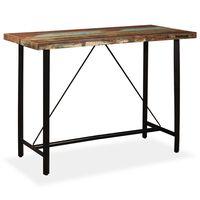 vidaXL Barový stôl, recyklovaný masív 150x70x107 cm