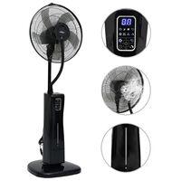vidaXL Stojanový ventilátor s výrobou hmly a s diaľkovým ovládaním čierny