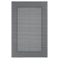 vidaXL Vonkajší koberec sivý 190x290 cm PP