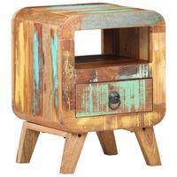 vidaXL Nočný stolík 30x30x41 cm recyklovaný masív