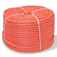 vidaXL Pletené lano polypropylénové 6 mm 500 m oranžové
