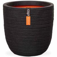 Capi Kvetináč v tvare vajca Nature Row čierny 54x52 cm KBLRO935