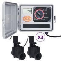 vidaXL Záhradný regulátor zavlažovania so 6 solenoidnými ventilmi