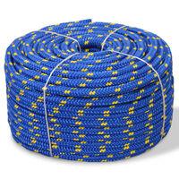 vidaXL Lodné lano, polypropylén, 14 mm, 50 m, modré