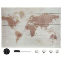 vidaXL Nástenná magnetická tabuľa sklenená 60x40 cm