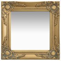 vidaXL Nástenné zrkadlo v barokovom štýle 40x40 cm zlaté