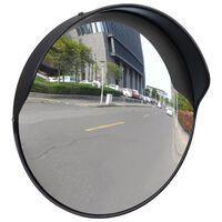Konvexné dopravné zrkadlo, PC plast, čierne 30 cm, do exteriéru