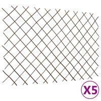 vidaXL Mriežkový plot z vŕbového prútia 5 ks 180x120 cm