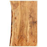 vidaXL Doska na kúpeľňovú skrinku masívne akáciové drevo 100x55x3,8 cm