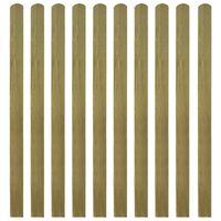 vidaXL Impregnované plotové dosky 30 ks, drevo 140 cm