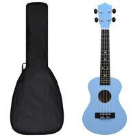 """vidaXL Sopránové ukulele s taškou pre deti modré 23"""""""