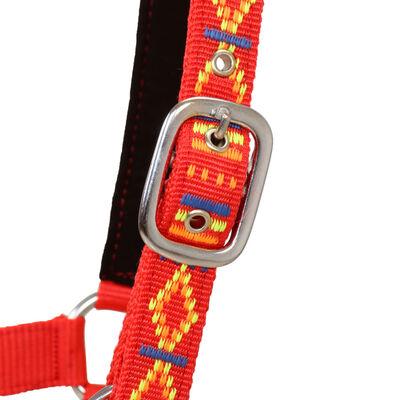 vidaXL Konské ohlávky 2 ks, nylón, veľkosť full, červené