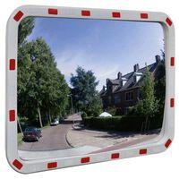 Konvexné dopravné zrkadlo, obdĺžnik 60x80 cm, s odrazkami