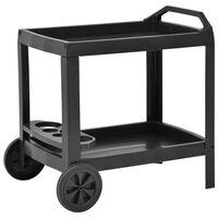 vidaXL Nápojový vozík antracitový 69x53x72 cm plastový