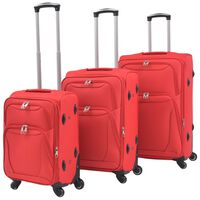 vidaXL Sada 3 cestovných kufrov, červená