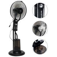 vidaXL Stojanový ventilátor s výrobou hmly 3 rýchlosti fúkania čierny