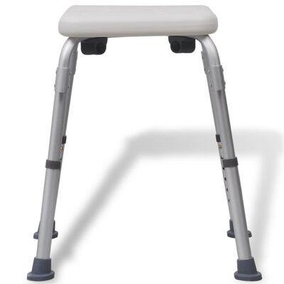 vidaXL Sprchovacia stolička, hliník, biela