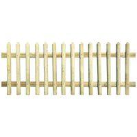 vidaXL Latkový plot, impregnovaná borovica 170x100 cm, 5/7 cm