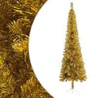 vidaXL Úzky vianočný stromček zlatý 120 cm