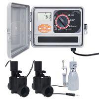 vidaXL Regulátor zavlažovania s dažďovým senzorom a solenoidným ventilom