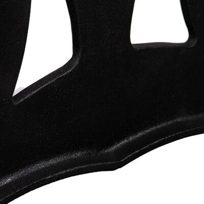 vidaXL Stolové nohy na konferenčný stolík 2 ks, rám v tvare X, liatina