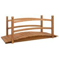 vidaXL Záhradný mostík 140x60x60 cm jedľový masív