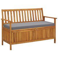 vidaXL Záhradná úložná lavica 120 cm, akáciový masív