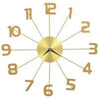vidaXL Nástenné hodiny zlaté 50 cm kovové