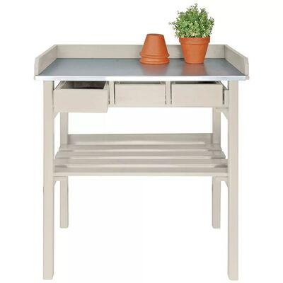 Záhradný pracovný stôl Esschert Design biely CF29W