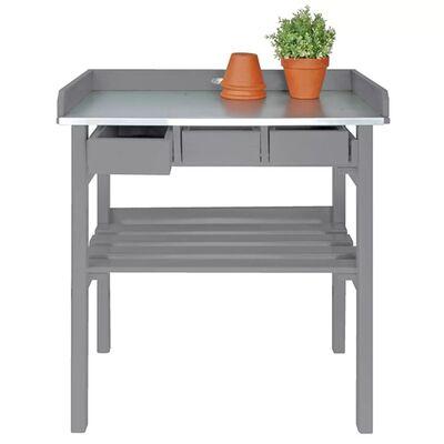 Záhradná pracovná lavica Esschert Design, šedá CF29G
