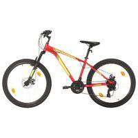 """vidaXL Horský bicykel 21 rýchlostí 27,5"""" koleso 42 cm rám červený"""