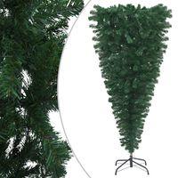 vidaXL Prevrátený umelý vianočný stromček s podstavcom zelený 120 cm